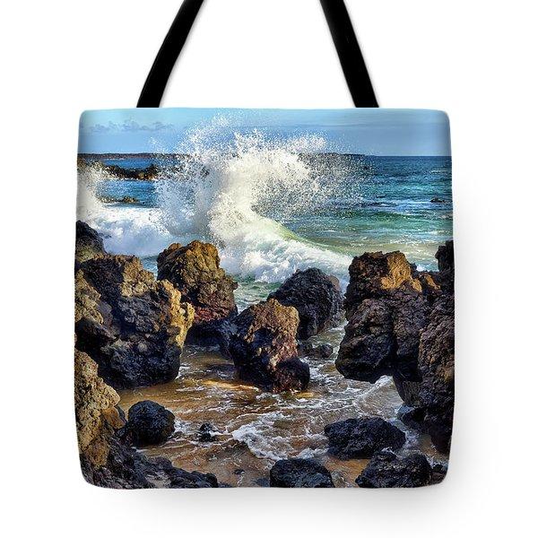 Maui Wave Crash Tote Bag