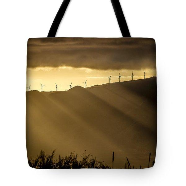 Maui Wind Farm Sunset Tote Bag