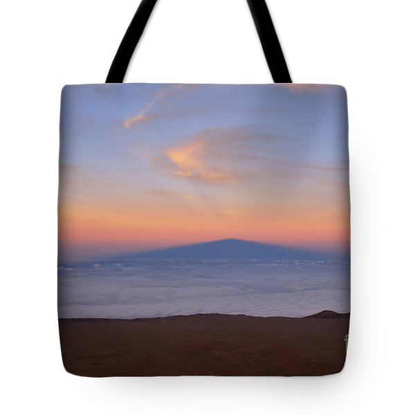 Tote Bag featuring the photograph Mauna Kea Shadow by Charmian Vistaunet