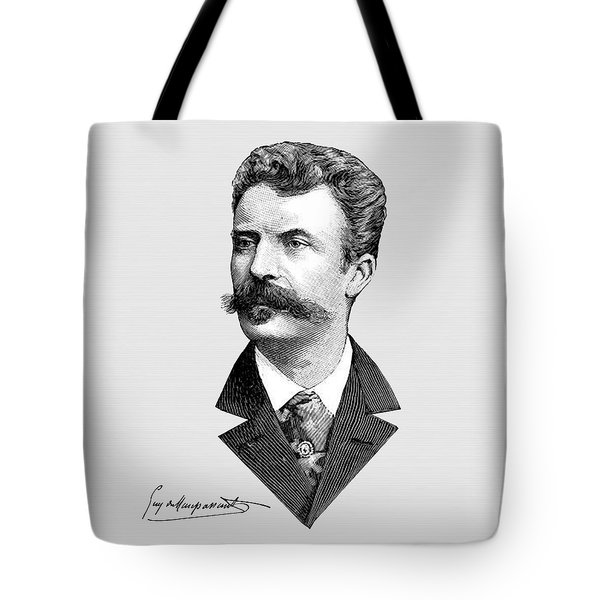 Tote Bag featuring the digital art Maupassant by Asok Mukhopadhyay