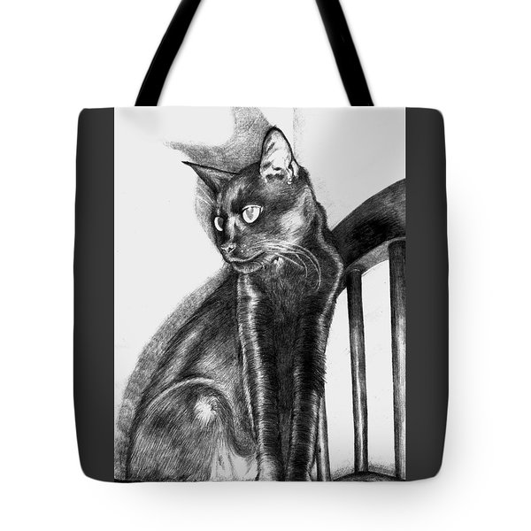 Tote Bag featuring the drawing Maurice  by Shawna Rowe