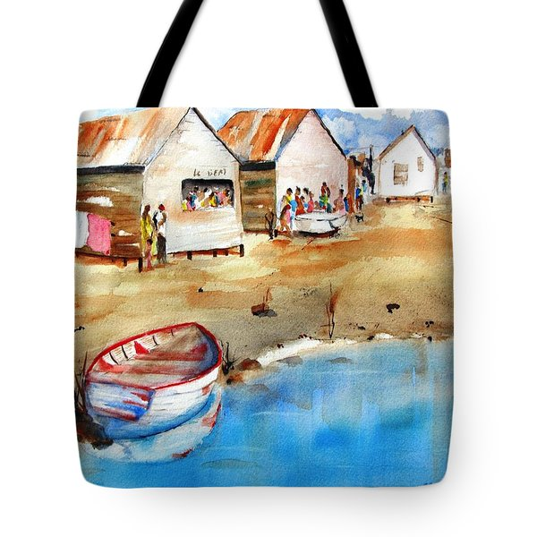 Mauricio's Village - Beach Huts Tote Bag