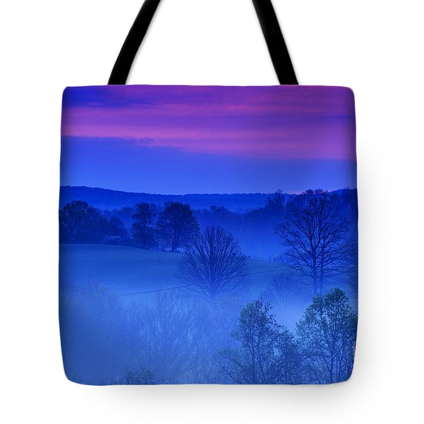 Mauve At Morning Tote Bag by Thomas R Fletcher