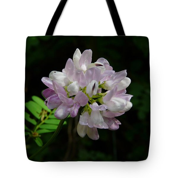 Mauve Flower Tote Bag by Valerie Ornstein
