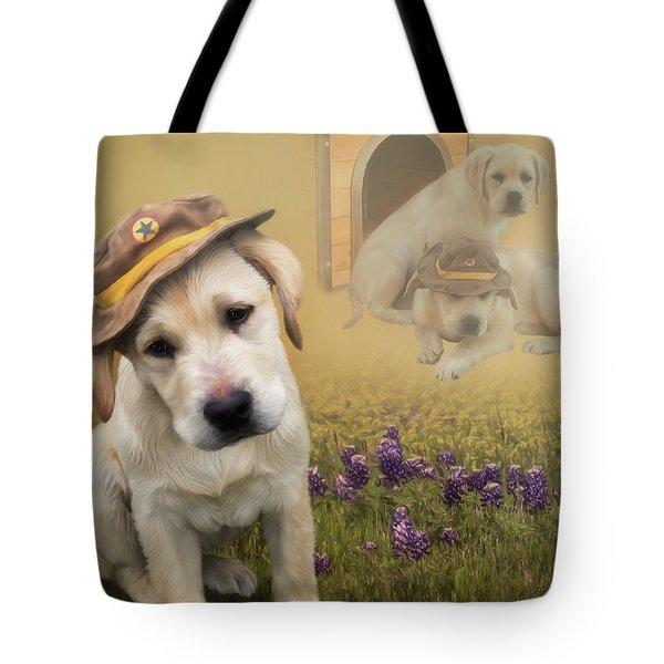 Maverick And Tori - Labrador Art Tote Bag