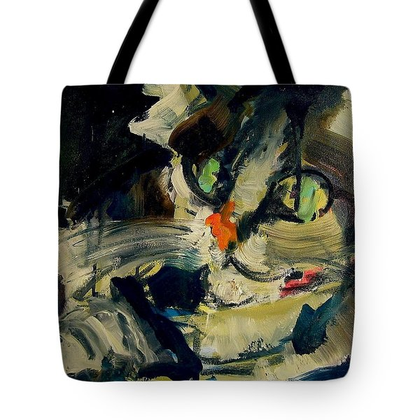 Tote Bag featuring the painting Max by Les Leffingwell