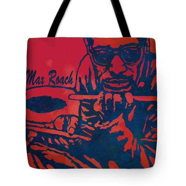 Max Roach Pop  Stylised Art Sketch Poster Tote Bag
