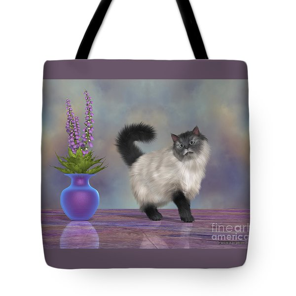 Max The House Cat Tote Bag by Corey Ford