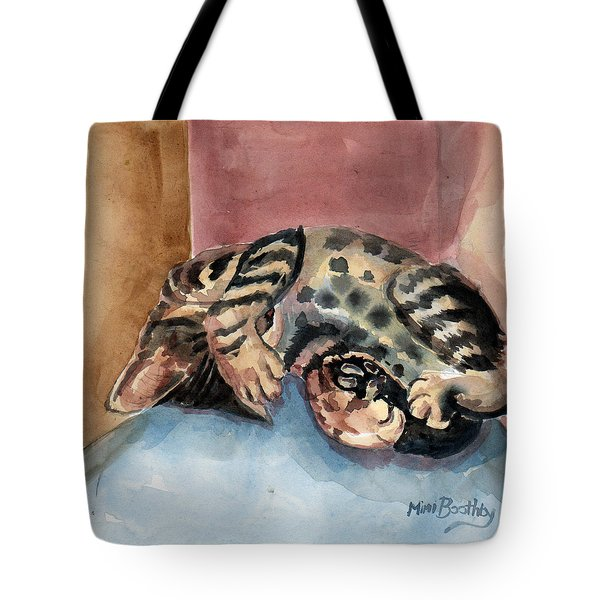 Maxi Shows His Belly Tote Bag