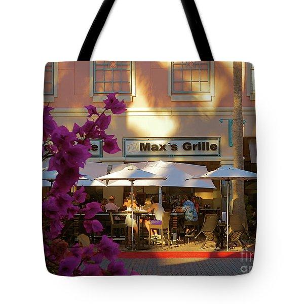 Max's Cafe In Mizner Park. Boca Raton, Fl Tote Bag