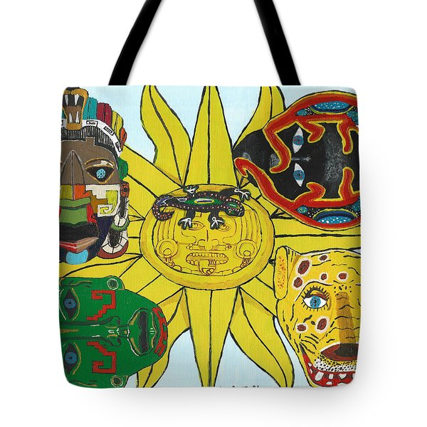 May  Aztec Masks Tote Bag