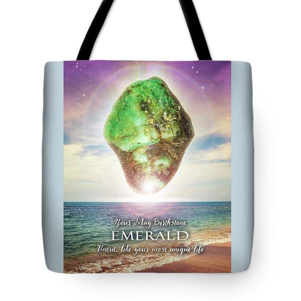 May Birthstone Emerald Tote Bag