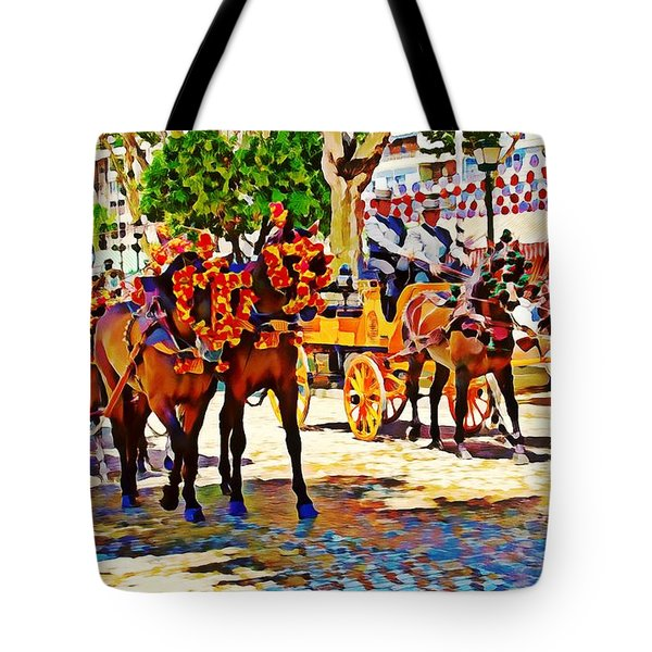 May Day Fair In Sevilla, Spain Tote Bag