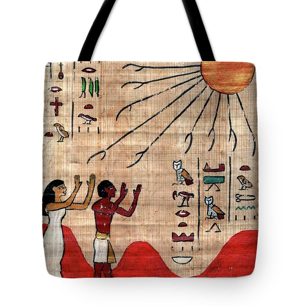 May God Stand Between You And Harm 18th Dynasty Egyptian Blessing Tote Bag