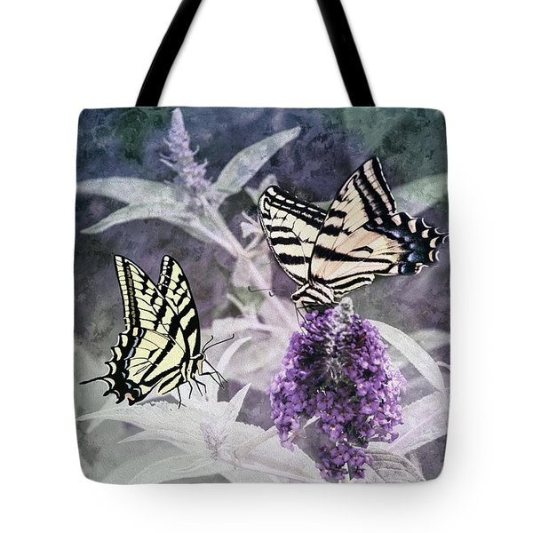 Tote Bag featuring the photograph May I Join You by Diane Schuster