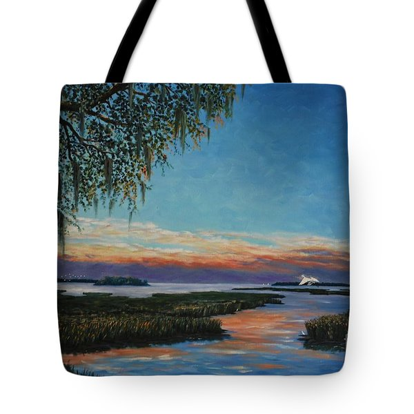 May River Sunset Tote Bag by Stanton Allaben