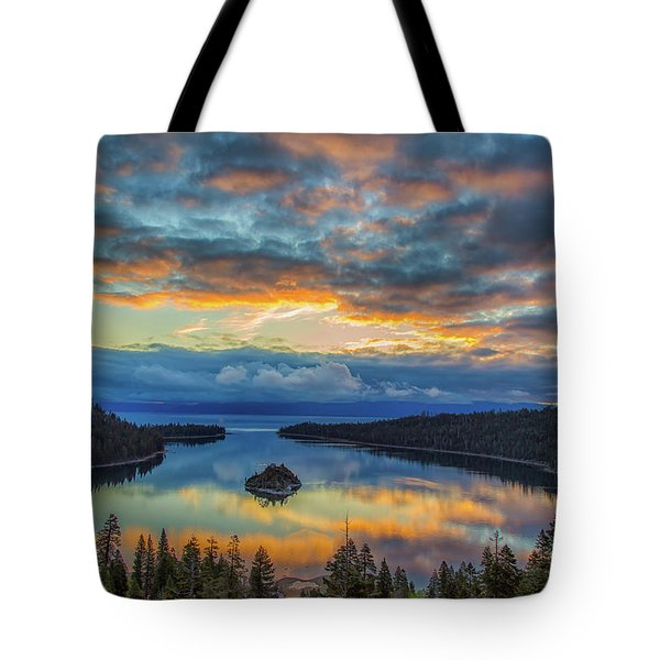 May Sunrise At Emerald Bay Tote Bag