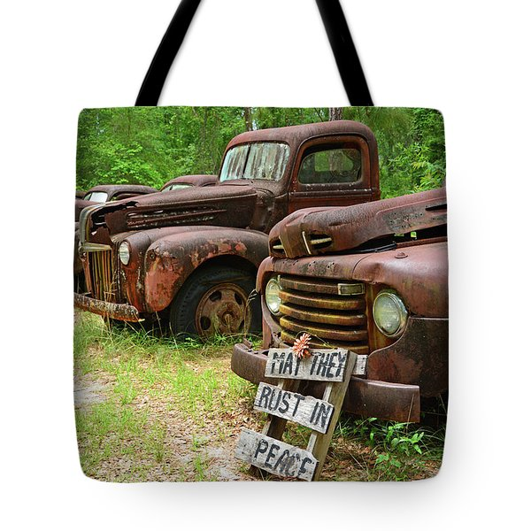 May They Rust In Peace Tote Bag