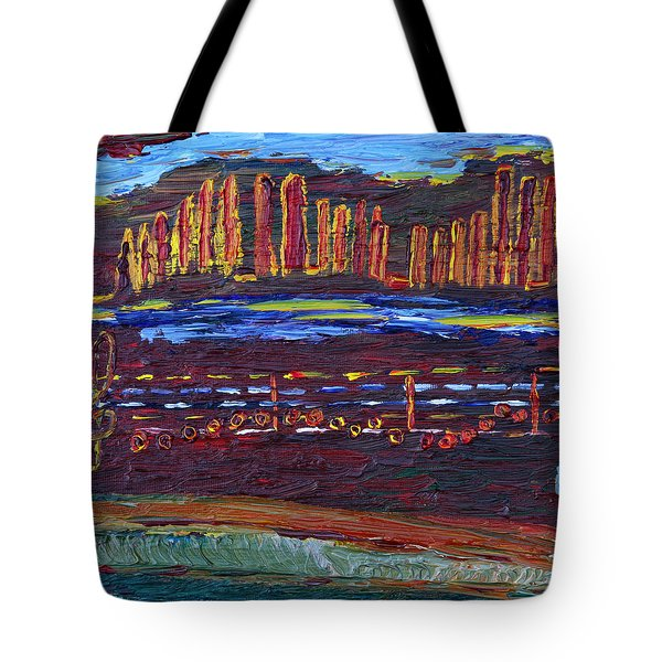 Tote Bag featuring the painting May You Have A Good Year by Vadim Levin