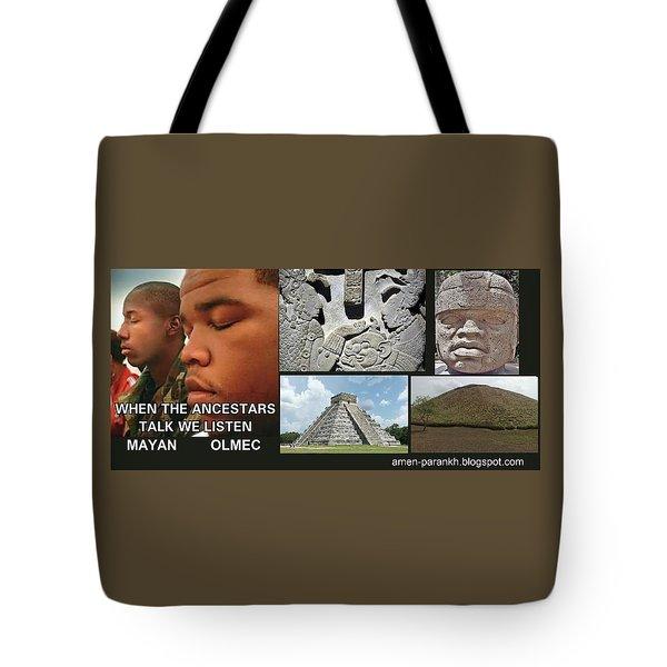 Mayan Olmec Tote Bag