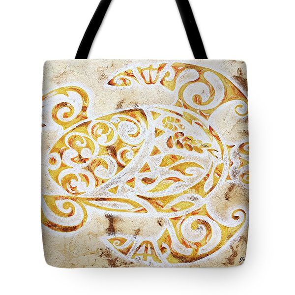 Tote Bag featuring the painting Mayan Turtle by J- J- Espinoza