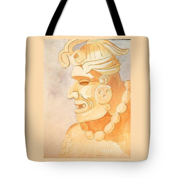 Mayan Warrior Tote Bag