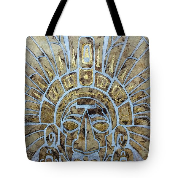 Tote Bag featuring the painting Mayan Warrior by J- J- Espinoza