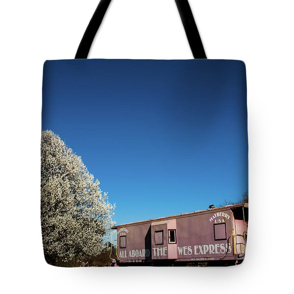 Tote Bag featuring the photograph Mayberry Express by Randy Sylvia