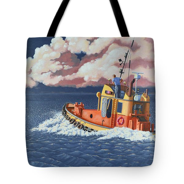 Mayday- I Require A Tug Tote Bag by Gary Giacomelli
