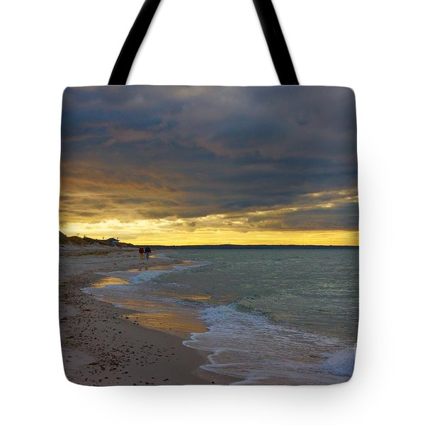 Tote Bag featuring the photograph Mayflower Beach Walk by Amazing Jules