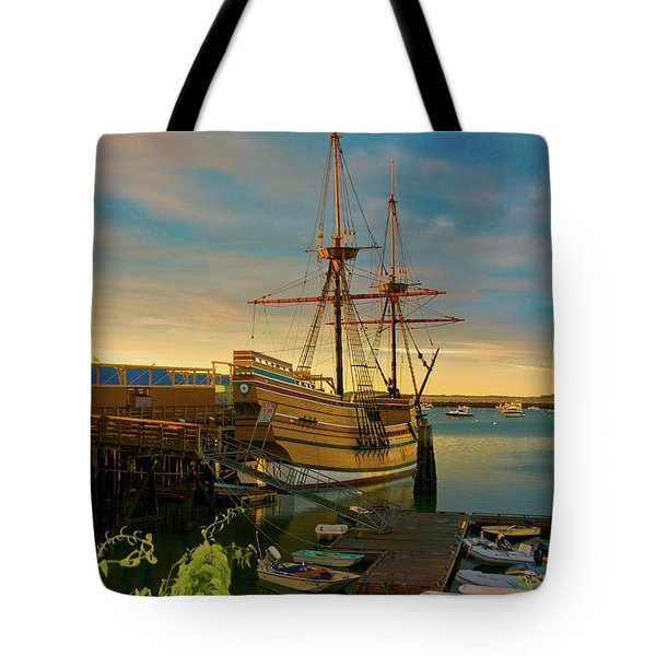Tote Bag featuring the photograph Mayflower II by Amazing Jules