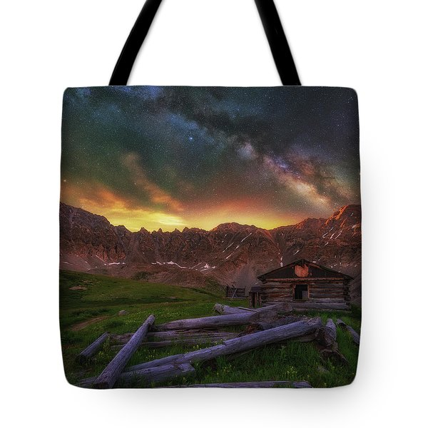 Tote Bag featuring the photograph Mayflower Milky Way by Darren White