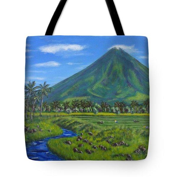 Mayon Volcano Tote Bag