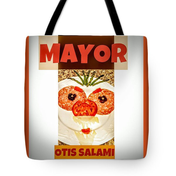 Tote Bag featuring the photograph Mayor Otis Salami T-shirt by Jennifer Hotai