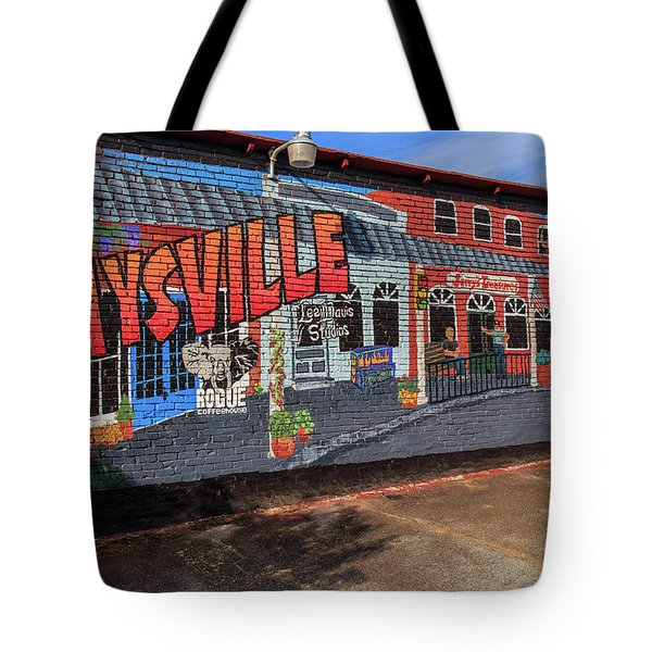Tote Bag featuring the photograph Maysville Mural by Doug Camara