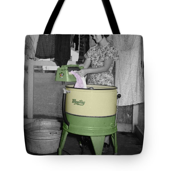 Maytag Woman Tote Bag by Andrew Fare
