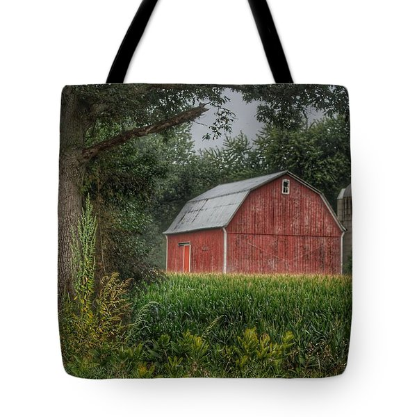 0027 - Mayville's Lapeer Road Red Tote Bag