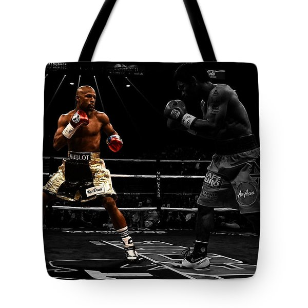 Mayweather And Pacquiao Tote Bag