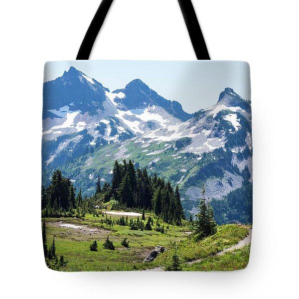 Mazama Ridge And Tatoosh Range Tote Bag