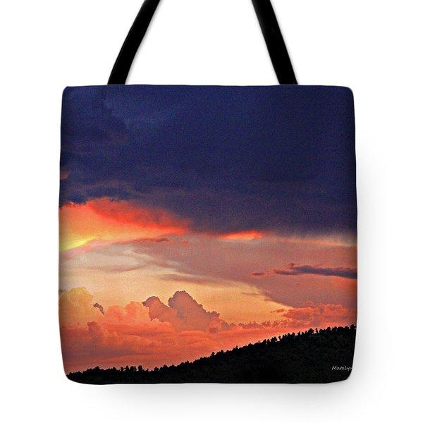 Mazatzal Peak Sunset Tote Bag