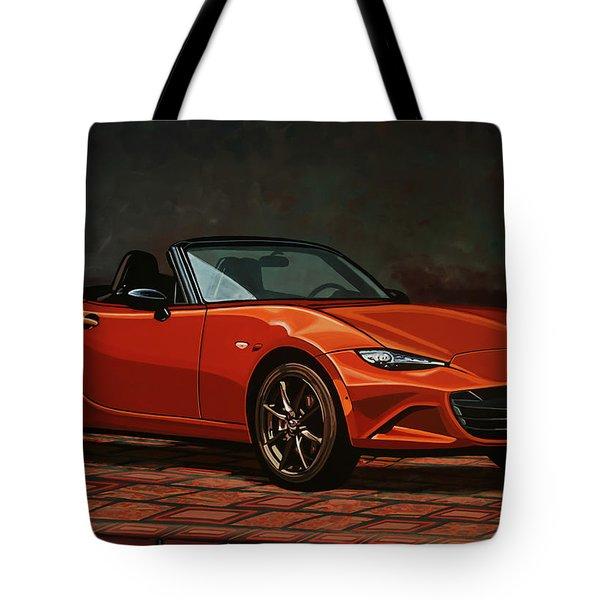 Mazda Mx-5 Miata 2015 Painting Tote Bag