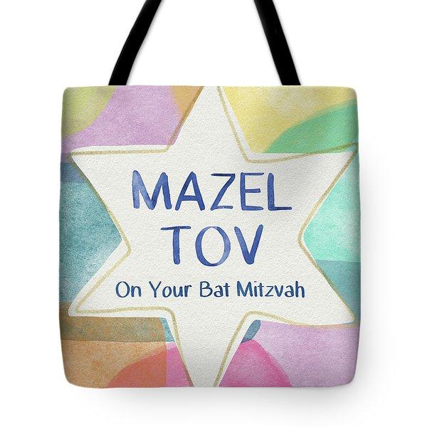 Mazel Tov On Your Bat Mitzvah- Art By Linda Woods Tote Bag