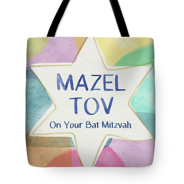 Mazel Tov On Your Bat Mitzvah- Art By Linda Woods Tote Bag