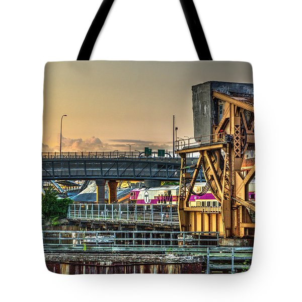 Mbta Bascule Bridge 010 Tote Bag