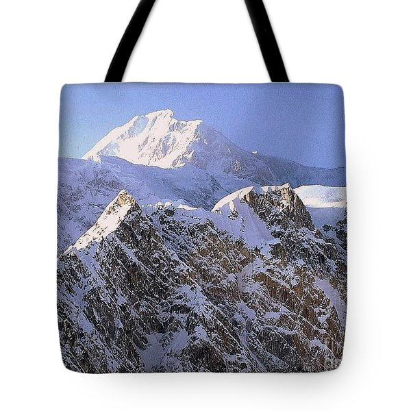 Tote Bag featuring the photograph Mc Kinley Peak by James Lanigan Thompson MFA