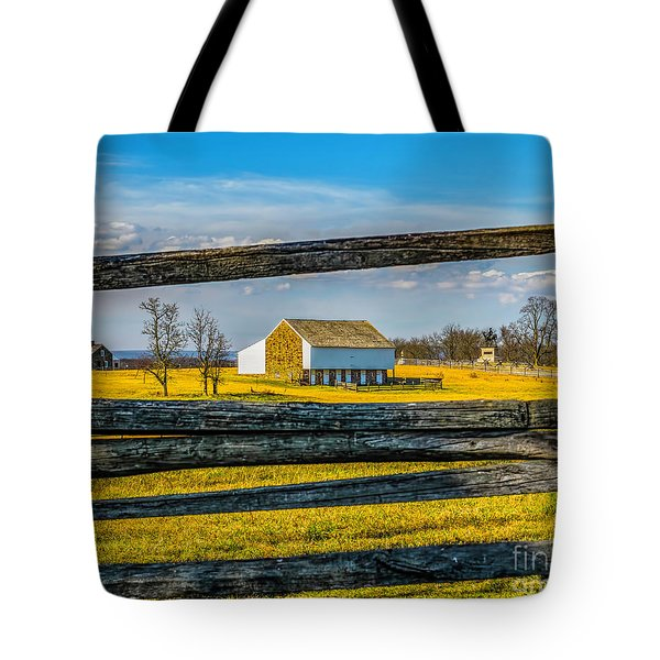 Tote Bag featuring the photograph Mc Pherson Barn - Gettysburg National Park by Nick Zelinsky