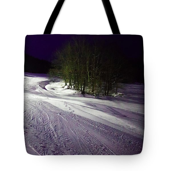 Tote Bag featuring the photograph Mccauley Evening Snowscape by David Patterson