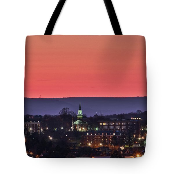 Tote Bag featuring the photograph Mcdaniel At Sunset by Mark Dodd