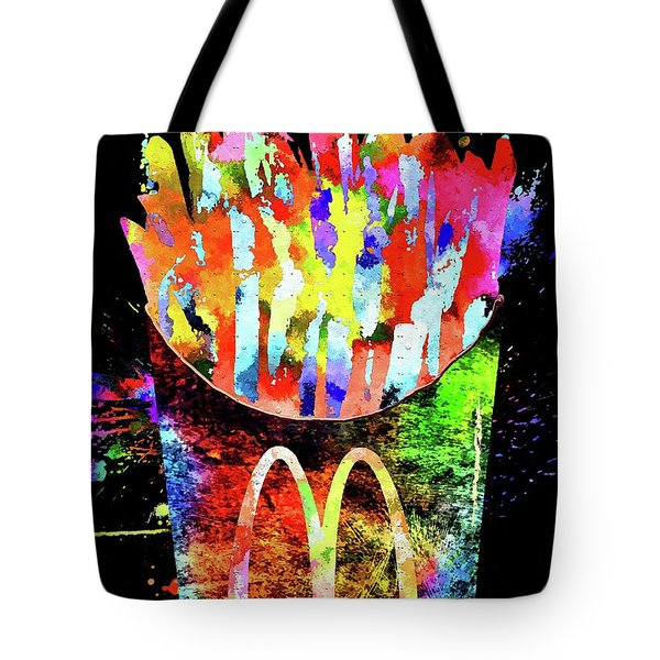 Mcdonald's French Fries Grunge Tote Bag