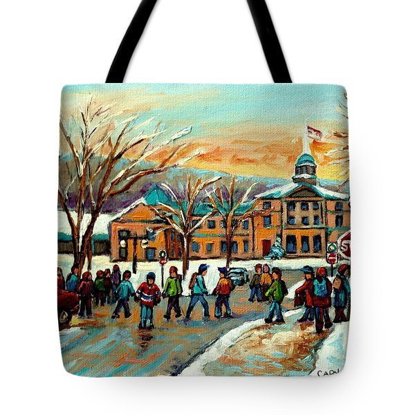 Mcgill Gates Sherbrooke Street Montreal Tote Bag by Carole Spandau